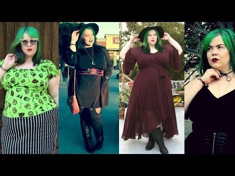 3837ffe578a FALL FASHION Plus Size Haul: Witchy Maxi Dresses & Pin Up Style ...