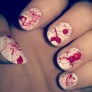 Halloween Blood Splatter Nails