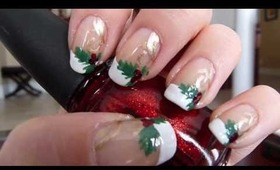 TUTORIAL: Christmas French Manicure
