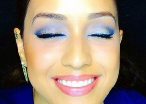 """Up Next on my YouTube channel: """"Winter Blues"""" makeup tutorial. 💙😊  http://www.youtube.com/Joleposh"""