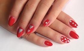 "Valentine's ""Hearts"" Nail Art How-To"