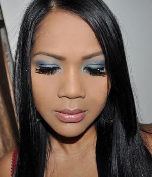 bold blue look