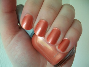 Orly Peachy Parrot Nail Polish from the Birds of a Feather Collection 2011.  To read my review of the polish please visit my blog:  http://www.mazmakeup.blogspot.com