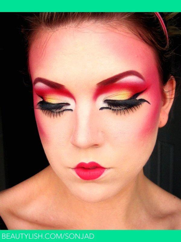Geisha Inspired Makeup Sonja D S Sonjad Photo