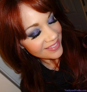 This is a smoky purple eye that I did using Glamour Doll Eyes shadows :-)  For more info, please visit VanityandVodka.com :-) Hope you are having a beautiful day!