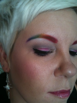 Rainbow brows!