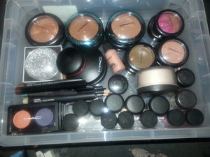 bronze, skin finish, blush, and pigments + a few others (: