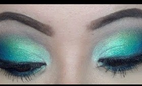 Spring Makeup Tutorial - Blue and Green