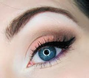 Loving this eye look with the coral on the lid and purple in the waterline!
