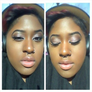 A sexy soft dewy look using the Naked 3 palate
