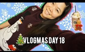 🎄 VLOGMAS DAY 18: FRUITCAKE FRAPP AND UGLY SWEATER COOKIE, DOGS MAKIKNG OUT? | MakeupANNimal
