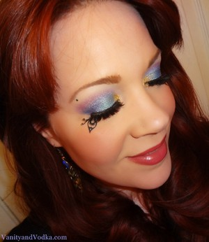 Fantasy look using Sugarpill and Obsessive Compulsive Cosmetics.  Lash accents by Paperself. For more info, visit www.VanityandVodka.com  :-)