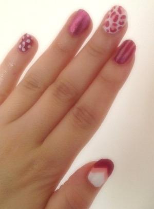 Pink nail art inspired from one of cutepolish's nail designs