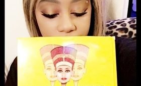 Get Ready with me using  Nubian 2 Eye Shadow palette