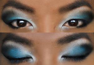Smokey Electric Blue Eye Look