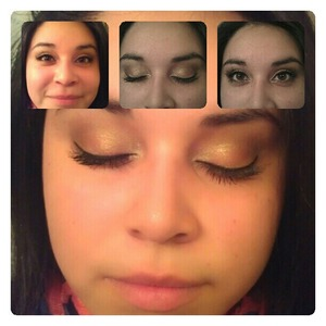 a simple eye look with a slight wing liner.