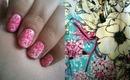 NAV ❘ White & Pink Floral Nail Stamping Art Tutorial