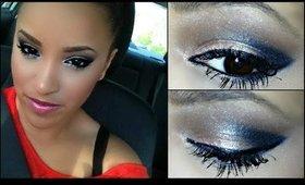 Champagne & Charcoal Smokey Eye Makeup Tutorial