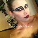 Black swan themes HALLOWEEN MAKEUP