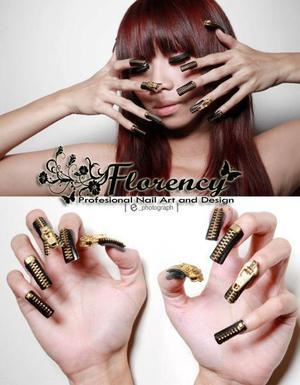3D nail art zipper..for fashion photography..