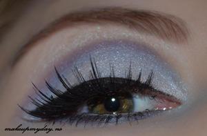 Eyes  False Eyelashes: Ardell: 106 Mascara: Isadora Precision Eyeliner pen: Isadora flex tip eyeliner Eyeliner: Isadora: Black. Sephora: white Eyeshadow: Sephora: Aspen summit. NYX: Baby blue, Pacific and Morocco.