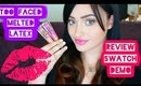 TooFaced Melted Latex Liquid Lipstick Review and Demo & Swatches | Rosa Klochkov