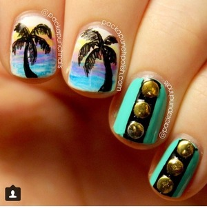 Let's go to Miami with these nails!!!