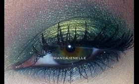Golden Emerald eyeshadow= TUTORIAL