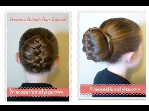 Braided Bubble Bun Tutorial Dance Hairstyles