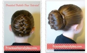 Braided Bubble Bun Tutorial, Dance Hairstyles