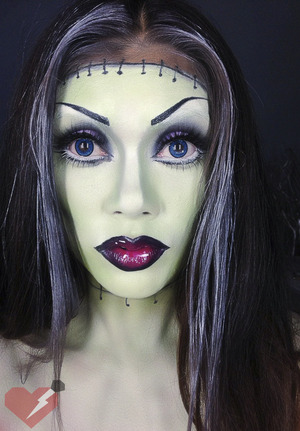Frankenstein Halloween Makeup done by Alana Dawn get the details and products I used on our blog. www.LadyArtLooks.com
