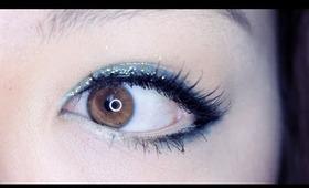 Easy Glitter Eyeliner Makeup