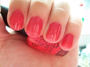 OPI Guy Meets Gal-veston  To read my review of the polish please visit my blog:  www.mazmakeup.blogspot.com