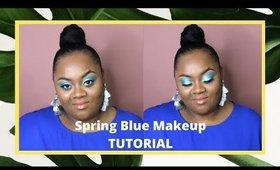 Spring Blue Makeup