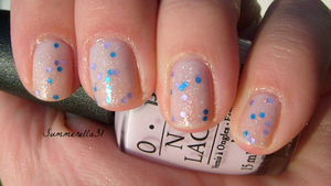 OPI Care To Danse? and New York Color Starry Silver Glitter