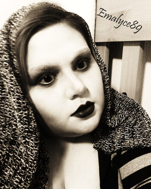 A recreation of a Vogue makeup look done in B&W. I look a bit evil here. lol