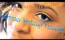 SPRING + SUMMER EYE SHADOW TUTORIAL| USING Yellow, Blue & Brown  ♥✔ 2013