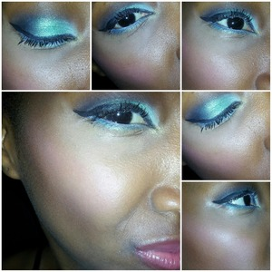 Smokey green eye...