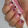 Red Hearts Valentine's Day Nail Design