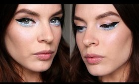 Makeup Tutorial: Winged Liner With Pastel Blue Accent