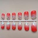 Ombre Japanese 3D nail art