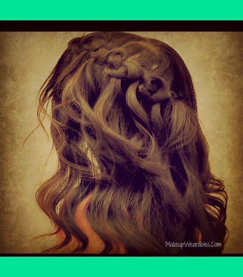 How To Knotted Waterfall Braid Half Up For Medium Long Hair Tutorial