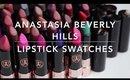 ANASTASIA BEVERLY HILLS MATTE LIPSTICK SWATCHES