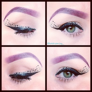 This look was inspired by illamasqua's speckled eyeliner and nail polish