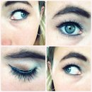 Simple eye makeup