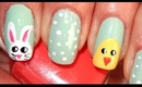 Easter Bunny&Chick Nails