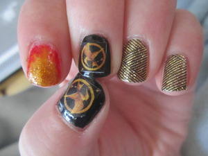 My Hunger Games nails for the premier!