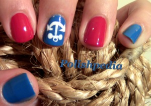 Often times I go for more simple nail art over really fancy nail art.  These nautical nails were perfect for me with the additional of the anchor!  Love them!  You can see how I did them @ http://www.polishpedia.com/nautical-nails.html (Video Tutorial)