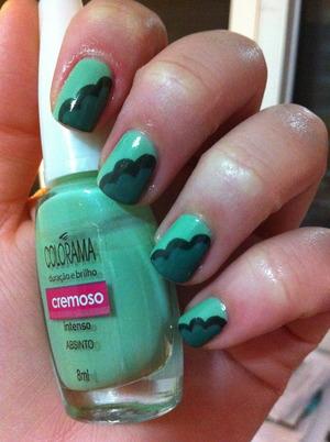 #4 - green nails