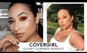 SUMMER GLOWY MAKEUP USING NEW COVERGIRL PRODUCTS!